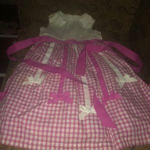 Girls, New, size 4, pink & white dress